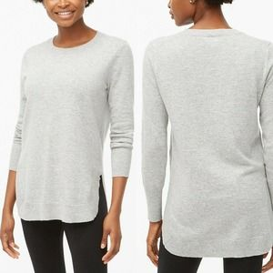 J Crew Tunic Sweater Pullover Long Sleeve Top Gray